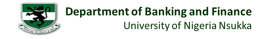 Department of Banking and Finance